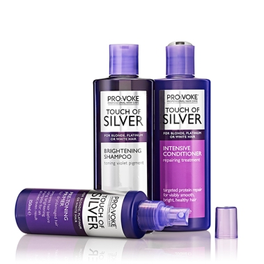 Pro-voke touch of silver hair care products