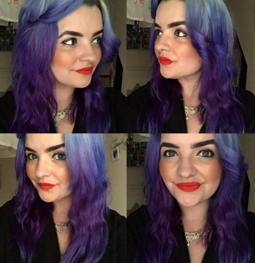 Purple Hair with Ombre Hair Extensions and Colour Freedom