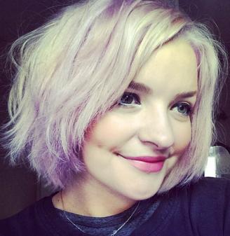 smart beauty lilac hair colour on short hair