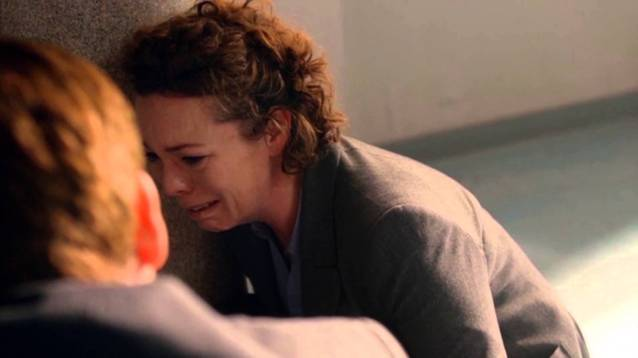olivia coleman crying in grief