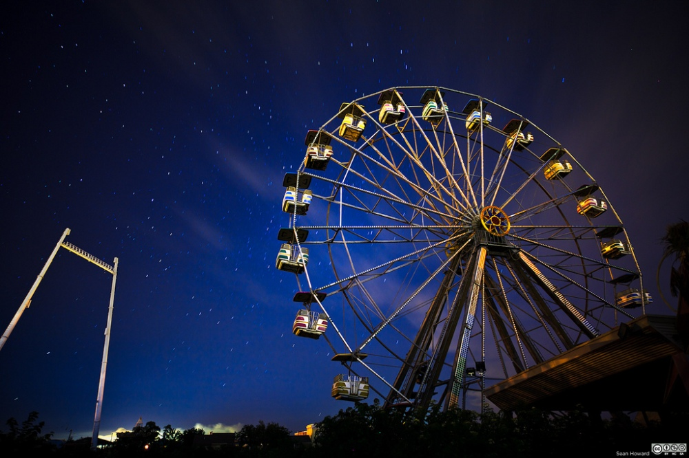 ferris wheel at night and depression with grief