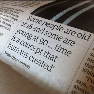 Yoko Ono Concept of Time Quote