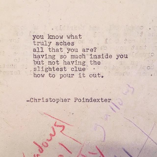 christopher poindexter poem